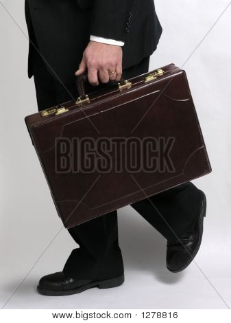 Businessman Running With Briefcase 1