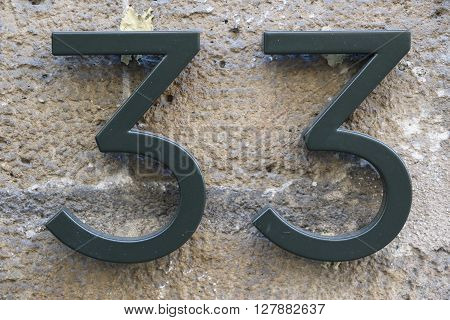 House number 33 in the city of Paris