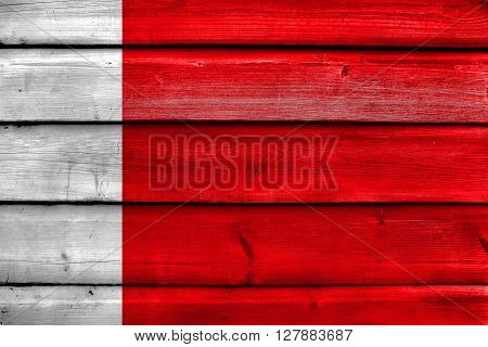 Flag Of Dubai, Painted On Old Wood Plank Background