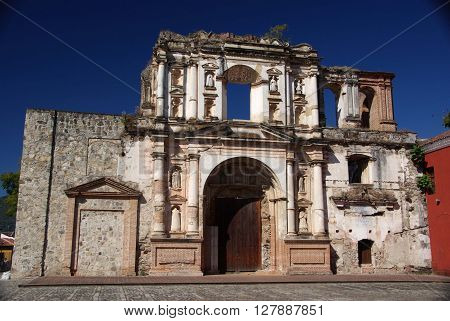 Ancient catholic Church in Antigua in Guatemala, Central America