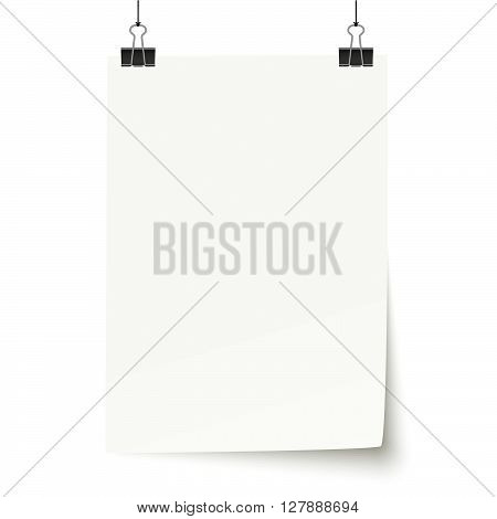 White Paper With Binder Clips