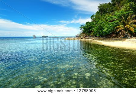 Beach On Kadidiri Island. Togean Islands. Indonesia.