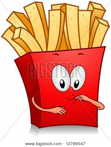 Illustration of Fries Character