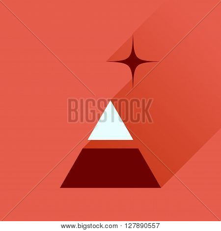 Flat icon with long  shadow financial pyramid