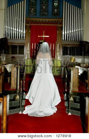 Bride At Alter