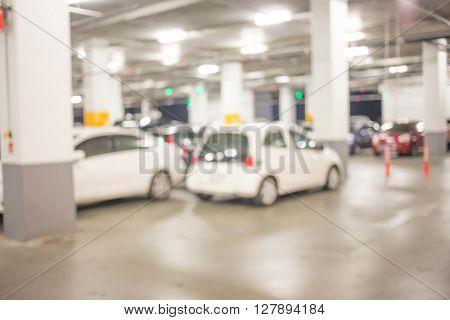 Blur Image In Car Parking