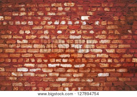 Burnt brick wall. The textured background for use