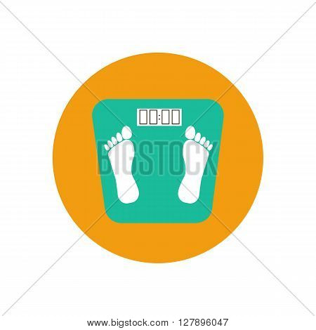 Floor scales icon. Vector illustration. Vector bathroom scales icon