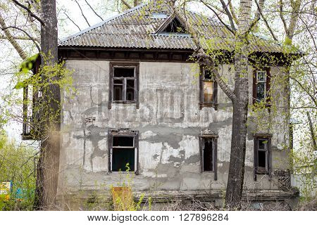 The Old abandoned house in the woods