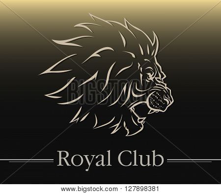 vector illustration lion logo symbol styled aggression