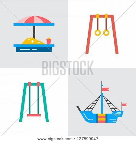 Baby swings outdoor children's Playground. swing which can be put in the yard.