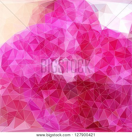 Vector modern abstract polygonal background with pink color for  design