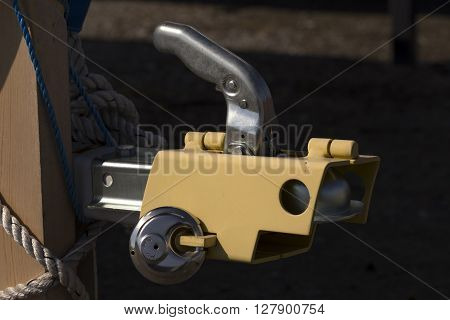 A locking equipment on a hitch for security