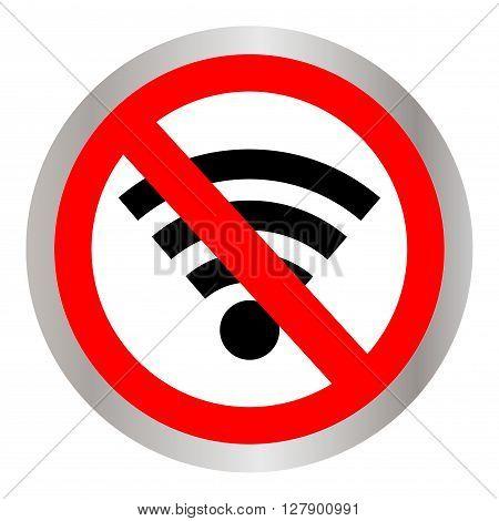 No signal sign vector,no signal area. Vector illustration