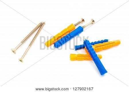 Colored Dowels And Different Screws