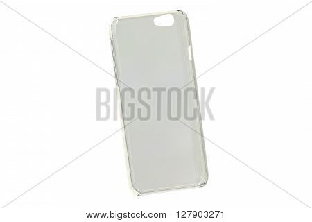 Silicone Transparent Mobile Phone plastic case 3D rendering