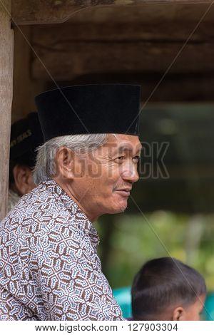 Portrait Of Toraja People In Traditional Attire