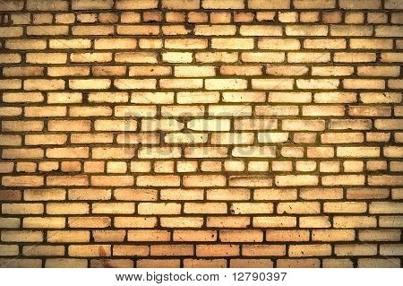The old grunge brick wall
