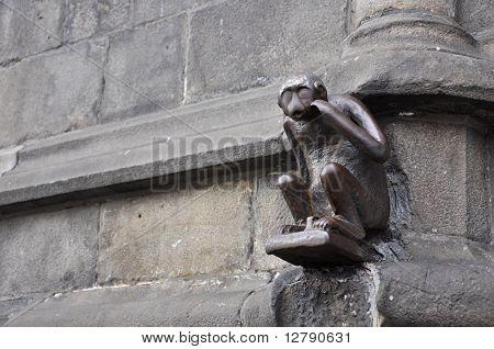 Statue Of Monkey Mons, Belgium