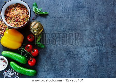 Vegetarian Or Cooking Concept