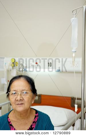 Senior Woman Patient In Hospital