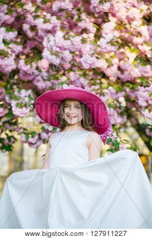 Fashionable Girl In Bloom