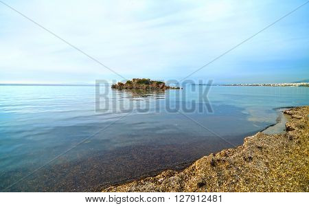 landscape of Kavouri beach in Attica Greece