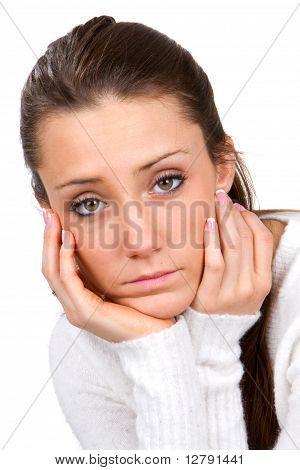 Sad Faced Woman