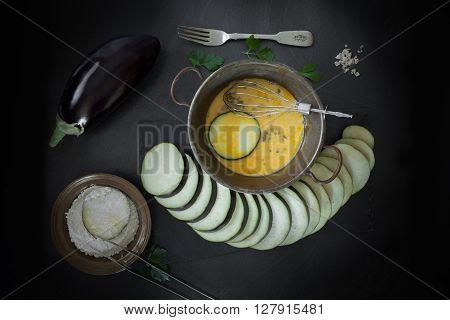 Fried Eggplant Preparation