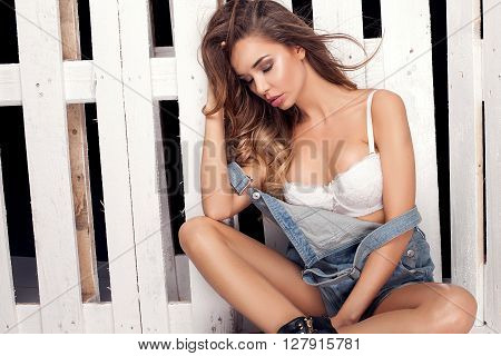 Fashion Photo, Sexy Girl In Jeans.