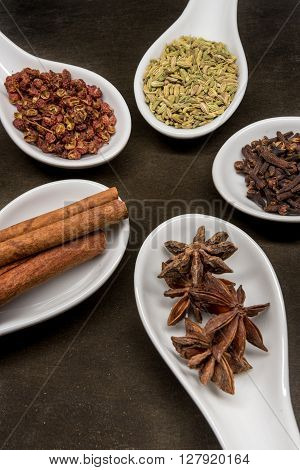 Five Spice Spoon Circle Star Anise