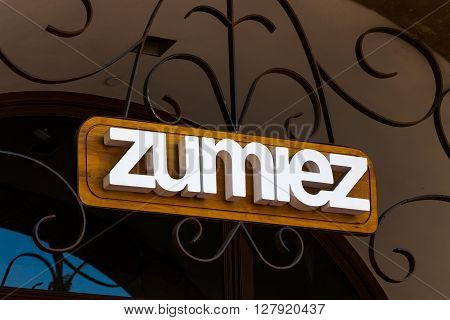 Zumiez Retail Store And Sign