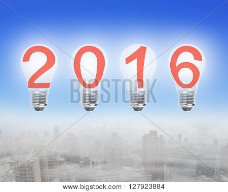 Bright 2016 Light Bulbs In The Sky