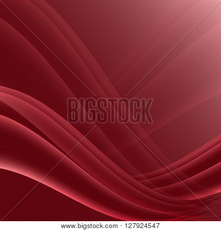 Red and black waves modern futuristic abstract background, stock vector