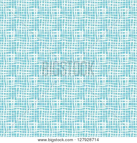 Seamless lines pattern.  Vector background whit blue waves lines