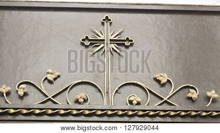 Decorative ornament made of old metal vintage