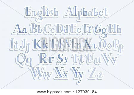 Hand Cut Vector Alphabet