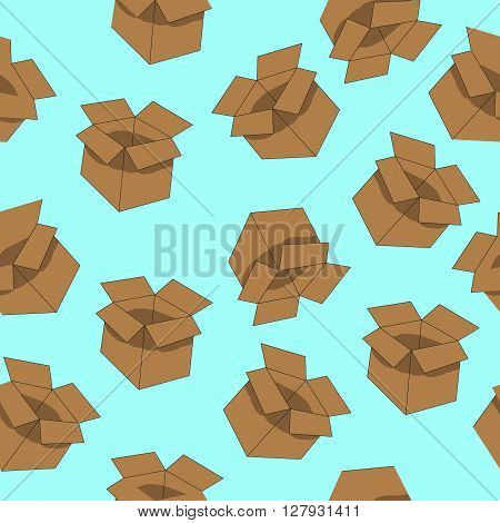 box and trunk circuit storage vector background, pattern
