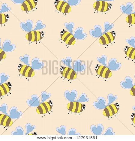 delicate pattern bee  sweet, element, beeswax, logo, bumble, character, art, happy