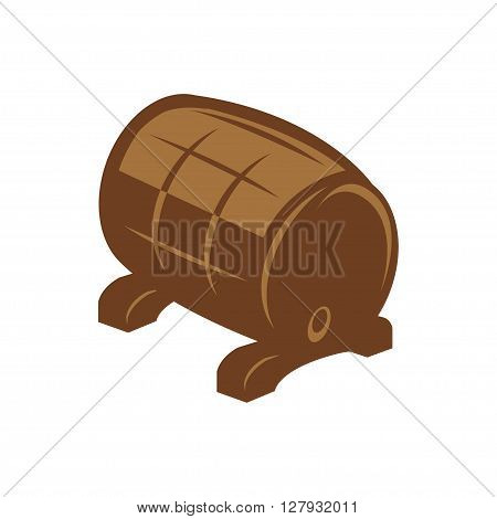 Vector flat barrel icon on white background. Barrel sign.