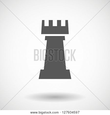 Isolated Vector Illustration Of A Rook   Chess Figure