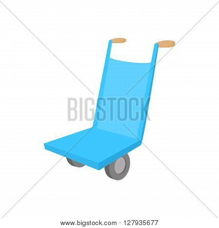 Hand cart icon in cartoon style on a white background