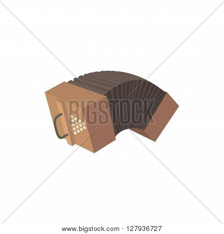 Bandoneon accordion icon in cartoon style on a white background