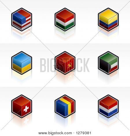 Flag Icons Set - Design Elements 56B