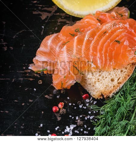 Bread With Salted Salmon