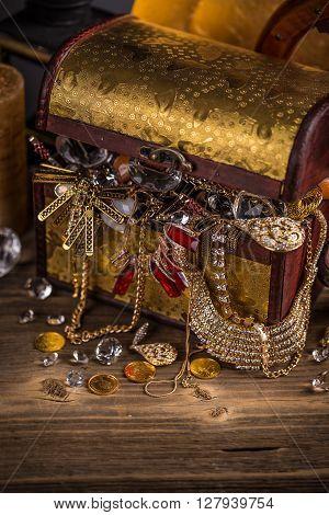 Small Pirate Treasure Chest