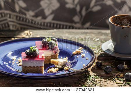 Dessert With Coffe