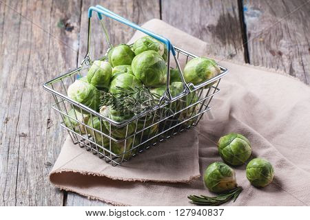 Food Basket Of Brussels Sprouts