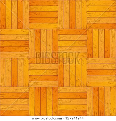Colour yellow wooden parquet realistic floor seamless