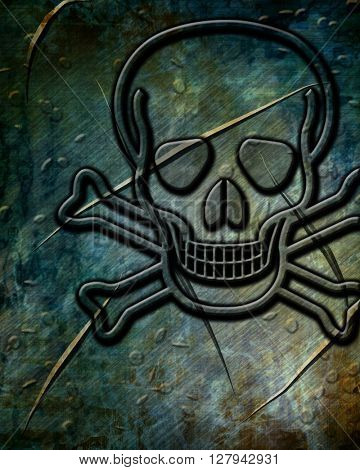 Poison sign background